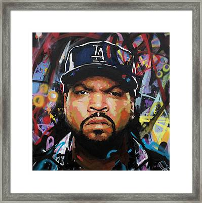 Framed Print featuring the painting Ice Cube by Richard Day