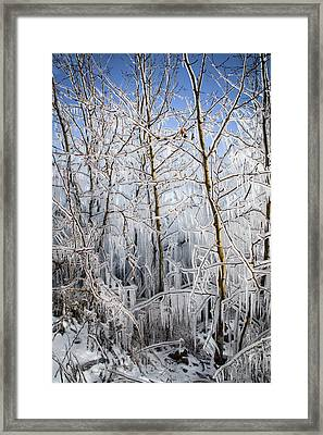Ice Curtain Framed Print