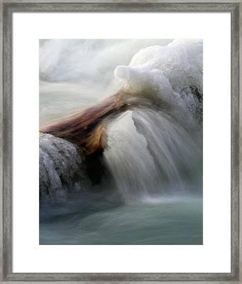 Ice Dam Framed Print by Timothy McIntyre