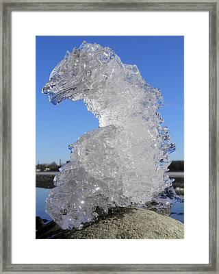 Framed Print featuring the photograph Ice Dragon by Sami Tiainen