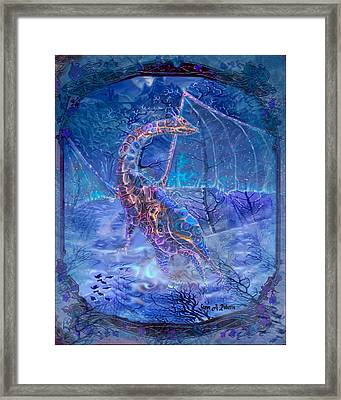 Framed Print featuring the painting Ice Dragon by Steve Roberts