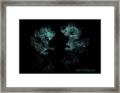 Ice Dragons Framed Print by Chad Hamilton