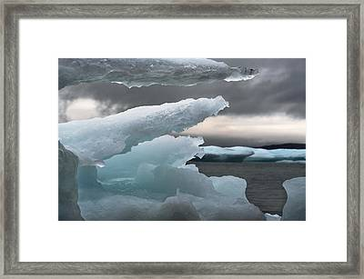 Ice Drama Framed Print