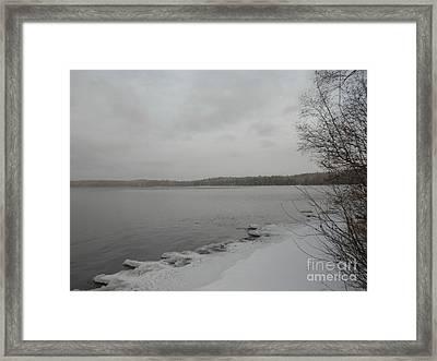 Ice Edge Framed Print