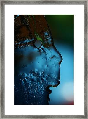 Ice Face Framed Print