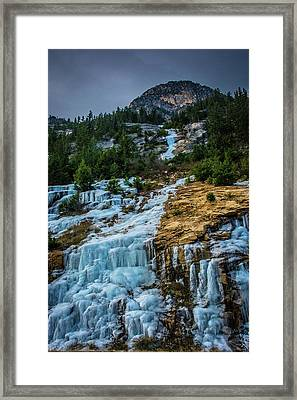 Ice Fall Framed Print
