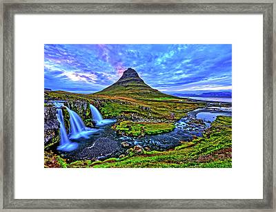 Framed Print featuring the photograph Ice Falls by Scott Mahon