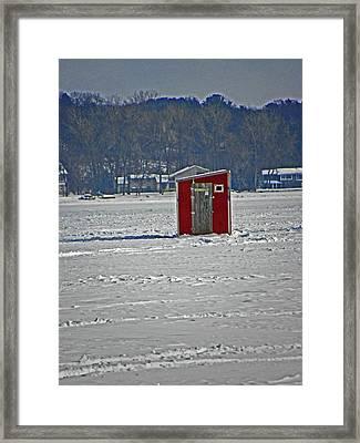Ice Fishing Paradise Framed Print by Elizabeth Hoskinson