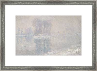 Ice Floes, 1893 Framed Print by Claude Monet