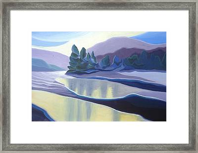 Ice Floes Framed Print