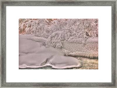 Ice Flow 1 Framed Print by Rick Couper