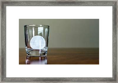 Ice For Whisky Or Cocktail Framed Print