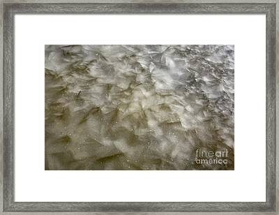 Ice Formations During The Winter Months Framed Print by Erin Paul Donovan