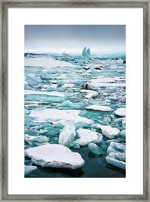 Framed Print featuring the photograph Ice Galore In The Jokulsarlon Glacier Lagoon Iceland by Matthias Hauser