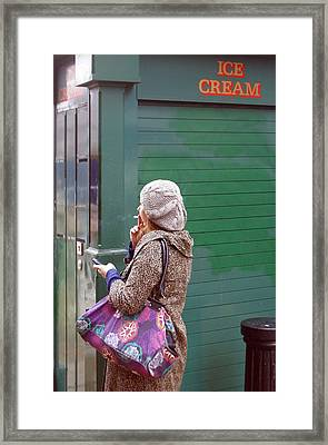 Ice Greem Framed Print by Jez C Self