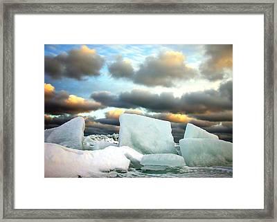 Ice Henge Framed Print by David April