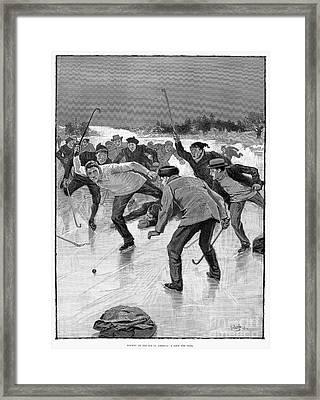 Ice Hockey, 1898 Framed Print