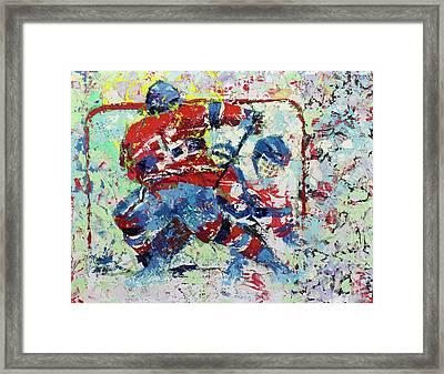 Ice Hockey No1 Framed Print