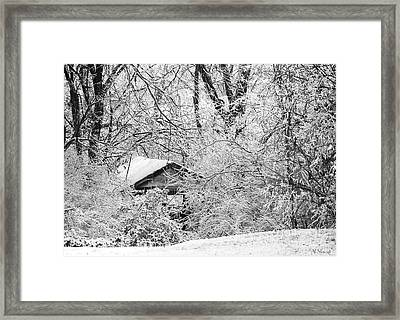 Ice Hollow Framed Print by Albert Stewart