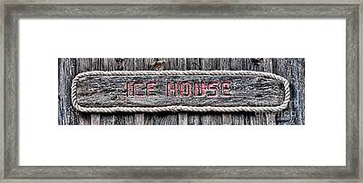 Ice House Framed Print by Olivier Le Queinec