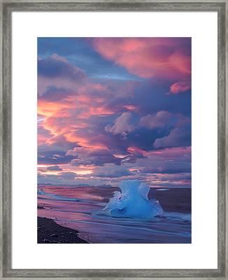 Ice Ignites Framed Print