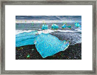 Ice In Iceland Surreal Deep Dream Picture Framed Print