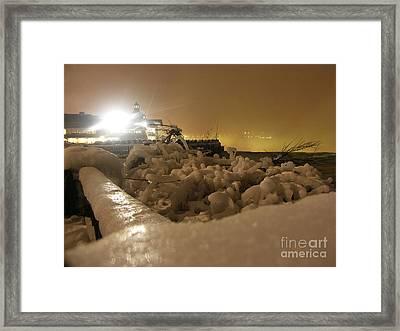 Ice In Sepia Framed Print by Deborah Selib-Haig DMacq