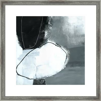 Ice Jam #1 Framed Print by Jane Davies