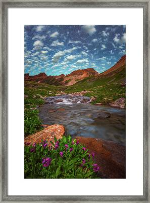 Framed Print featuring the photograph Ice Lake Nights by Darren White