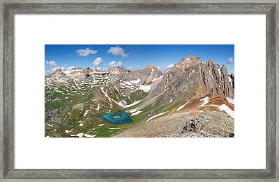 Ice Lakes Basin - Colorado  Framed Print by Aaron Spong