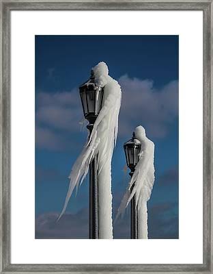 Ice Lamp Ladies Framed Print
