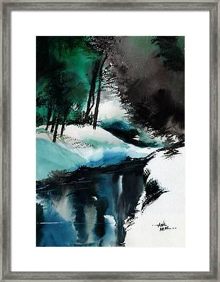 Ice Land Framed Print by Anil Nene