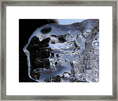 Framed Print featuring the photograph Ice Man by Sami Tiainen