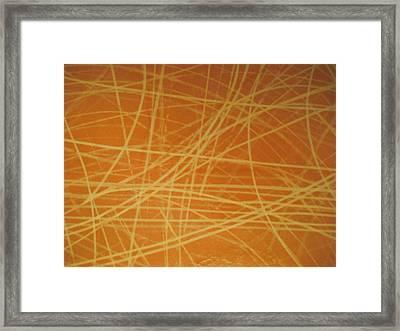 Ice Marks 2 Framed Print by Ken Yackel
