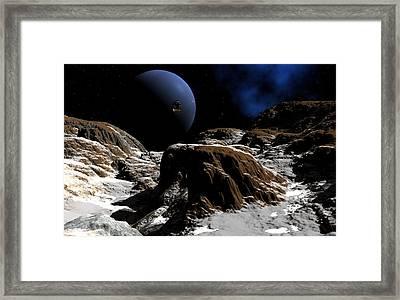 Ice Moon Framed Print