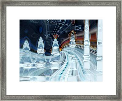 Ice Mountain Framed Print by Cherie Duran