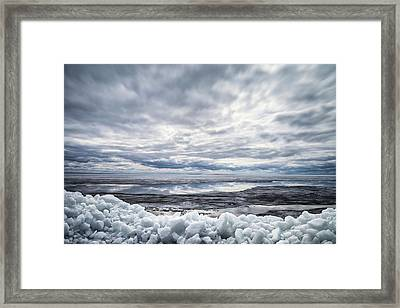 Ice On Lake Nipissing Framed Print by Brian Boudreau