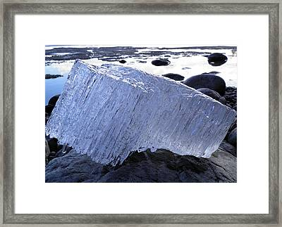 Framed Print featuring the photograph Ice On Rocks 1 by Sami Tiainen