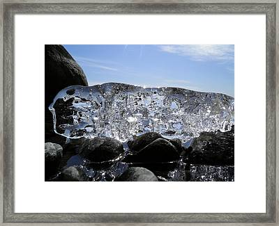 Framed Print featuring the photograph Ice On Rocks 3 by Sami Tiainen