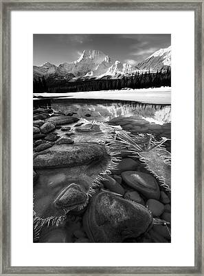 Ice On The Athabasca Framed Print