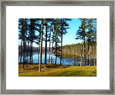 Ice On The Water Framed Print by Donald C Morgan