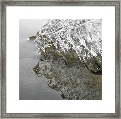 Framed Print featuring the photograph Ice On Water 1 by Sami Tiainen