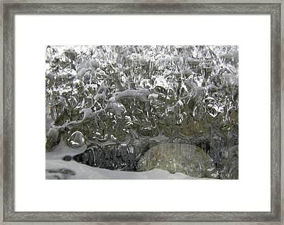 Framed Print featuring the photograph Ice On Water 2 by Sami Tiainen