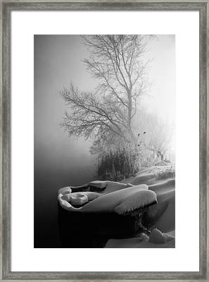Ice Pier Framed Print