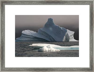 Ice Pinacle Framed Print by Elisabeth Van Eyken