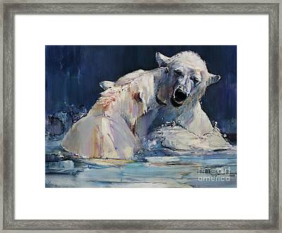 Ice Play Framed Print by Mark Adlington