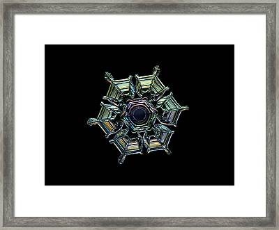 Framed Print featuring the photograph Ice Relief, Black Version by Alexey Kljatov
