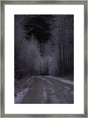 Ice Road Framed Print