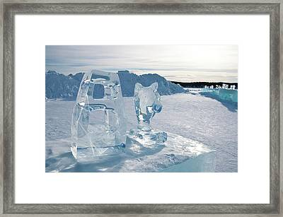 Ice Sculpture Framed Print by Tamara Sushko