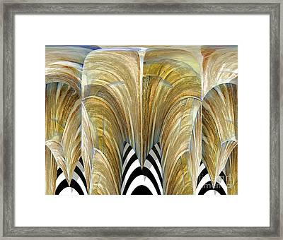 Ice Sculptures Framed Print by Ron Bissett